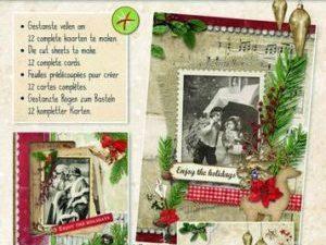 STANSBLOKSL56 StudioLight Udstanset Papirblok 3D Vintage Christmas-0