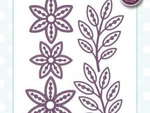 CED1487 Creative Expressions Sue Wilson Die Finishing Touches Pinwheel Floral-0
