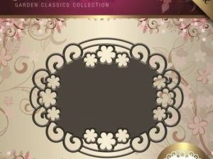 JAD10004 Jeanine`s Art Die Garden Classic Collection Oval Ramme-0