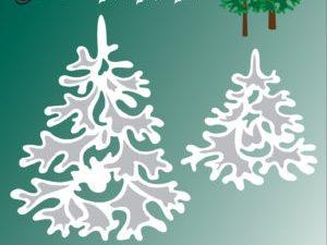 BLD1014 By Lene Die Cut/emb Christmas Trees-0