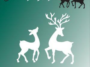 BLD1015 By Lene Die Cut Reindeers-0