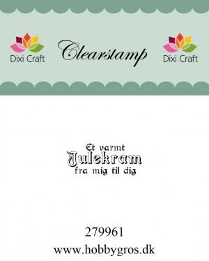 279961 Dixi Craft Clearstamp Citatstempel Jul Et varmt julekram ...-0