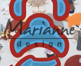LR0499 Marianne Design Die Cut/emb Creatables Kim's Buddies Winter Set-0