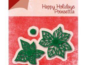 6002/0776 JOY Die Cut/emb Happy Holidays Poinsettia-0