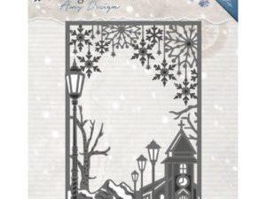 ADD10121 Amy Design Die Vintage Winter Village Frame Straight-0