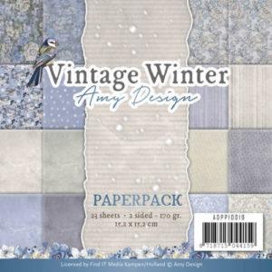 ADPP10019 Amy Design Papirsblok Vintage Winter-0
