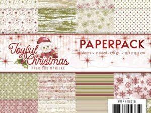 PMPP10016 Precious Marieke Papirsblok Joyful Christmas-0