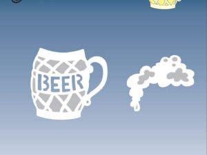 BLD1021 By Lene Die Cut/emb Beer Mug-0