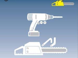 BLD1022 By Lene Die Cut/emb Chain Saw & Drill-0