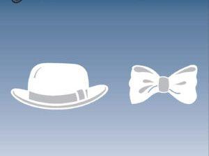 BLD1023 By Lene Die Cut/emb Bowler Hat & Butterfly-0