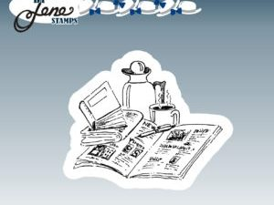 BLS1012 By Lene stempel Newspaper & Coffee-0