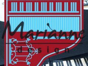 LR0501 Marianne Design Die Cut/emb Creatables Piano-0