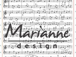 CS0997 Marianne Design Stempel Bagrund Music Notes-0