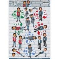 """CD11011 Yvonne Design 3D 1 ark """"Wild Boys""""-0"""