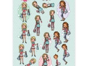 CD11012 Yvonne Design 3D 1 ark Sweet Girls-0
