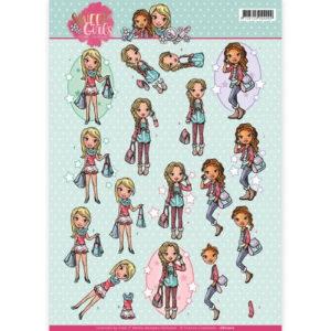 CD11012 Yvonne Design 3D 1 ark Sweet Girls-0