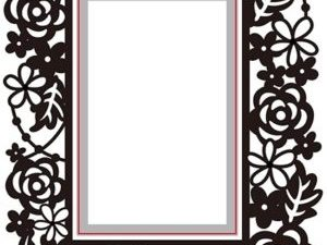 HSEFD004 Nellie Snellen Hobby Solution Emb.folder/Die, Rectangle Floral-0