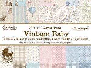 703345 Maja Design Papirsblok Vintage Baby -0