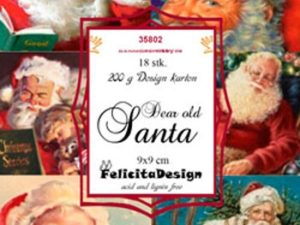 35802 Felicita Design Toppers 9 x 9 Dear old Santa-0