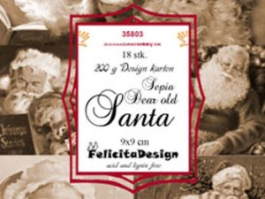 35803 Felicita Design Toppers 9 x 9 Dear old Santa sepia-0