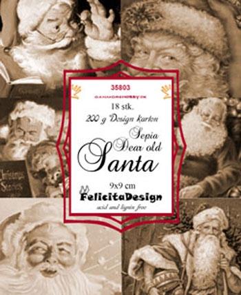 35803 Felicita Design Toppers 9 x 9 Dear old Santa sepia-0