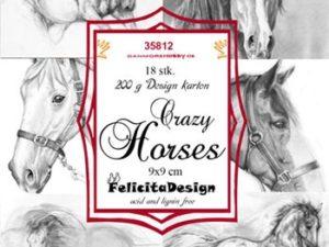 35812 Felicita Design Toppers 9 x 9 Crazy Horses-0