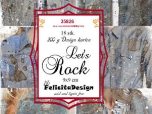 35826 Felicita Design Toppers 9 x 9 Let's Rock-0