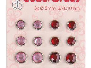 72.1437 Leane Creatief Leane Jewel Brads Pink-0