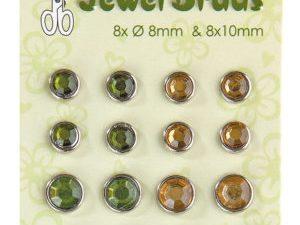 72.1444 Leane Creatief Leane Jewel Brads Mos Green & Light Gold-0