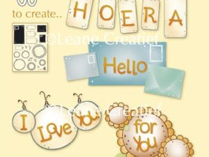"55.4612 Leane Creatief stempel/clearstamp ""Labels and more""-0"