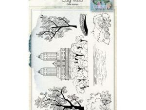 6410/0458 JOY Stempel Clear stamps, City View-0