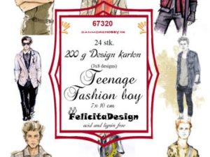 67320 Felicita Design Toppers 7 x 10 cm Teenage Fashion Boy-0