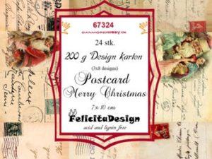 67324 Felicita Design Toppers 7 x 10 cm Postcard Merry Chrismas-0