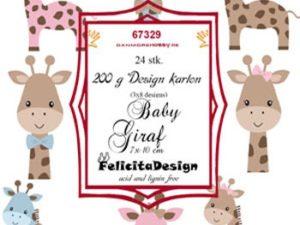 67329 Felicita Design Toppers 7 x 10 cm Baby Giraf-0