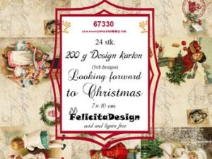 67330 Felicita Design Toppers 7 x 10 cm Looking forward to Christmas-0