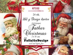 67332 Felicita Design Toppers 7 x 10 cm Father Christmas-0