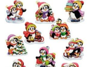 HC8810 Hearty Crafts Easy 3D Toppers, X-Mas Penguins-0