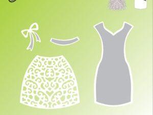 "BLD1034 By Lene Die cut/emb, ""Dress""-5745"