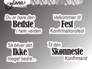 """BLS1019 By Lene stempel, """"Dansk Tekst"""" -0"""