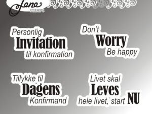 """BLS1020 By Lene stempel, """"Dansk Tekst"""" -0"""