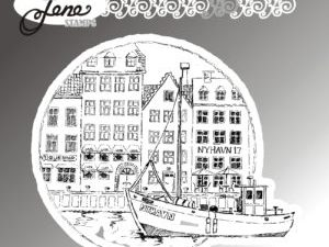 """BLS1023 By Lene stempel, """"Nyhavn"""" -0"""