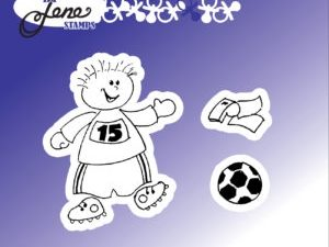 BLS1028 By Lene stempel, Boy with football-0