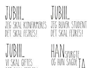 """STAMP0122 Dixi Craft Clearstamp, """"Dansk Tekst"""" -0"""