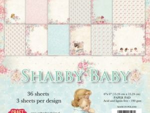 CPB-SB15 Craft & You Papirblok Shabby Baby-0