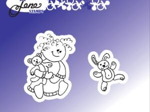 BLS1031 By Lene stempel, Girl with teddybear-0