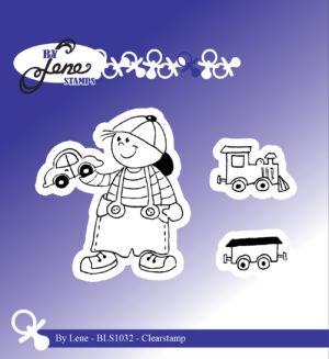 Bls1032 By Lene stempel, Boy with train -0