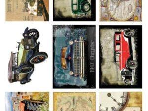 KP0046 Reprint klippeark Billeder 1 ark Vintage Transport-0