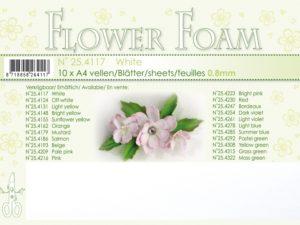 25.4117 Leane Flower Foam A4 0,8mm, White-0
