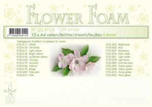 25.4124 Leane Flower Foam A4 0,8mm, Off White-0