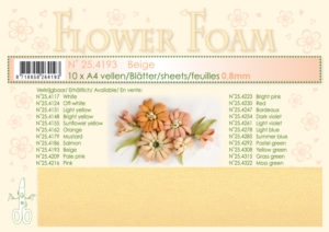 25.4193 Leane Flower Foam A4 0,8mm, Beige-0
